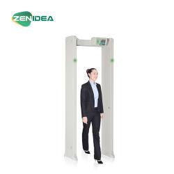디지털 접촉 스크린 안전 문틀 도보 여물통 Temperatura 문 금속 탐지기