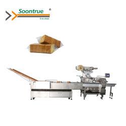 자동 빵/비스킷/쿠키/크래커/드라이 빵/감자 칩 트레이가 없는 식품 포장 기계/가장자리 포장 기계