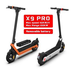بطارية سكوتر كهربائية قابلة للإزالة X9 قابلة للإزالة لبطارية وحدات التموّل الإلكتروني القابلة للطي