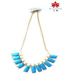 2014 dernière conception de bijoux de perles bleues collier style /l'Europe de l'Ouest
