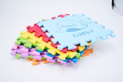 La moquette di gomma di puzzle della gomma piuma della stuoia del gioco dei capretti copre di tegoli il puzzle morbido dei capretti della stuoia del pavimento della gomma piuma della stuoia di puzzle di EVA