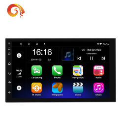 Autoradio des LÄRM 7inch 2 Android-8.1 Universal-GPS-Navigation Bluetooth WiFi 1024*600 Autoradio Stereo-FM Audiospieler des kamera-Auto-MP5