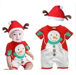 Großhandelssankt-WeihnachtsSchneemann-Overall-gesetztes Säuglingshalloween-Baby-WeihnachtsSchneemann-Kostüm