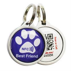 La impresión de PVC Llavero RFID HF NFC Tags epoxi aceptar el código QR y codificación URL