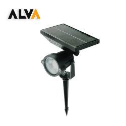 مصباح خارجي قابل للضبط مرج قابل للضبط 5W COB شريحة LED أضواء كشّاف ضوء حديقة شمسيّة لساحة الفناء