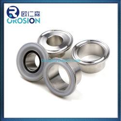 União de tubos sanitários em aço inoxidável soldadura/virola com fixação tripla