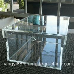 Qualidade superior personalizado queda de acrílico transparente Caixa de Exibição da Sapata Dianteiro
