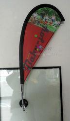 Impresión personalizada Mini cúpula de cristal de la base de la bandera Pole Display Banner
