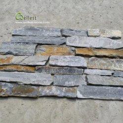جديد زرقاء [غري] صدئة لون جدار يكدّس حجارة, حديقة [رتين ولّ] حجارة, [إإكستريور ولّ] [كلدّينغ] حجارة في قطعة سائبة عشوائيّة