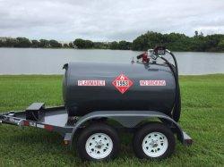 2000L de Aanhangwagen van de Tank van de Brandstof van het Koolstofstaal