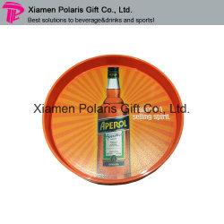 カスタムフルカラーのロゴのウエーター棒飲み物の皿