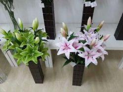 중나리의 자연적인 접촉 인공 꽃