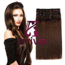 Clip 100% di estensione dei capelli umani del Virgin in capelli umani