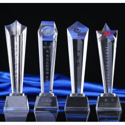 Stock Bulk Wholesaleの人工的なOptical Crystal Trophy Prize