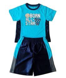 Gli sport personalizzati dei ragazzi hanno impostato i vestiti del bambino dei vestiti dei bambini di Shorts dei ragazzi della maglietta