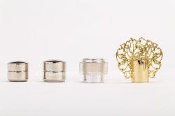 Tampa de liga metálica da tampa de vidro da tampa do vaso de perfume