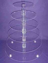 7 6 5 4 3개의 층 명백한 원형 둥근 아크릴 컵케이크 탑 대 결혼식 생일 케이크 격판덮개 사탕 디저트 팬 훈장
