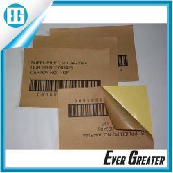 Autocolante de imprimir o código de barras Non-Drying etiqueta marrom Adesiva