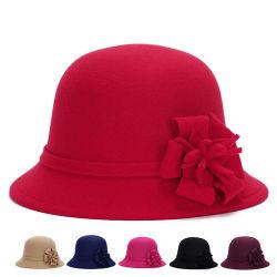 Moda Mujer Flor de Invierno de tejidos de poliéster algodón cuchara Hat (YKY3246)