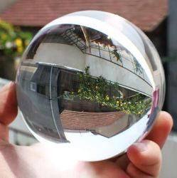 Sfera in vetro trasparente di grado superiore, sfera in cristallo con varie dimensioni