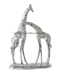 Belle Statue de jardin en résine animale girafe Figurine Polyresin cadeau de Noël