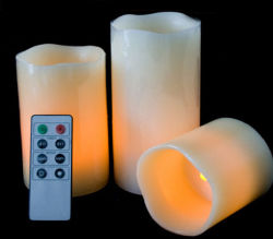 Led-Kaarsen Met Afstandsbediening Voor Party Bar Village Floor Kerstmis Decoratieve Verjaardag Gift Dinner Votive