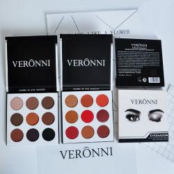 Maquillage des yeux Veronni Shimmer Matte Palette de couleurs Ombre à paupières Ombre de l'oeil 9