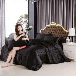 Ropa de cama de seda satén Bedsheet edredón nórdico