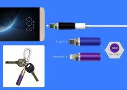 Bullet Connecteur Micro USB de l'aluminium à l'adaptateur de type C pour iPhone 5 6 6s