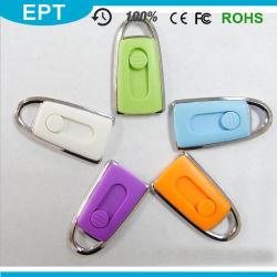 小型USBのフラッシュ駆動機構(EP254)を押す緑のプラスチックスライド