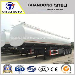 3/4 degli assi 45-50 Cbm della strumentazione del petrolio greggio del serbatoio di combustibile del trasporto di rimorchio pesante idraulico semi