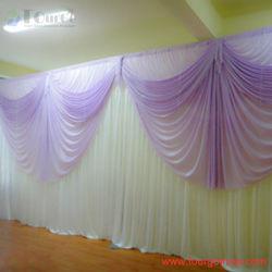 Tourgo tubo y el sistema de cortina con cortinas Decoración para bodas