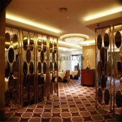 Роскошный зал для металла делители цвет нержавеющая сталь декоративный экран для отдельных