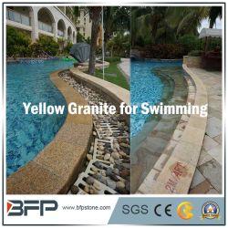 Pierre jaune chinois/Granite Tile pour l'adaptation de la piscine/Surround/pavage de la piscine de natation
