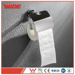 Venda por grosso de papel higiénico Rolo cromado titular com tampa