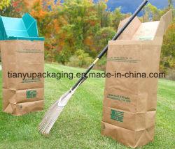 Biodegraduable Eco-Friendly 야드 정원 쓰레기 또는 졸작 Kraft 종이 봉지