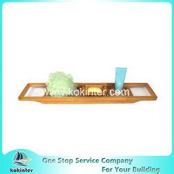 Venda a quente Caddy Banheira de bambu Bandeja Banheira de Hidromassagem Rack