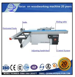 La longitud de trabajo de 3000 90 grados de inclinación de la sierra de mesa deslizante con 0-45 grados de ángulo de inclinación de las industrias de madera máquinas Format-Cutting Digital