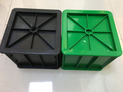 150x150mm testes de concreto e ferro fundido de plástico do molde