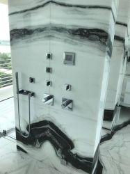La pierre naturelle Panda Tuiles de marbre blanc pour les carreaux de plancher intérieur mur