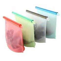 Saco de Arrumação de Silicone reutilizáveis estanque grande saco do congelador