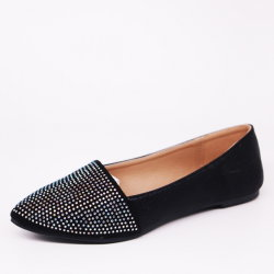 Shining Ladies' Fashion Ballets Flats fait Toe chaussures occasionnel
