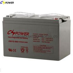 China 12V 90Ah Industrial Solar de batería de almacenamiento de gel para inversor