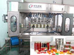 Automatische glazen fles fruit plantaardige Peper Jam Juice Coconut Oil Melkopvulmachine Afdichtingsdop machine Labeling machine Packing Production Lijn