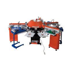 El SPG giratorio de la serie automática de la ROP Prendas de Vestir Camiseta ropa textil de la pantalla de la hoja de máquina de impresión con certificado CE