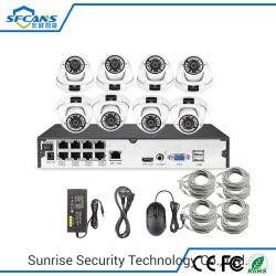 H. 265 sorveglianza del video della macchina fotografica del kit del CCTV del kit 8CH 5MP della cupola NVR di Poe di obbligazione domestica