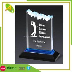 Hotsale de vidrio en forma de estrella Premio Trofeo en el precio barato (086)