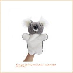 De mooie Handpop van de Koala van de Pluche paste Dierlijk Speelgoed aan