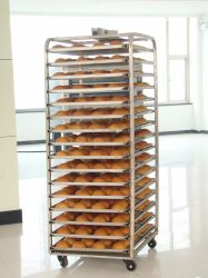Plateau en acier inoxydable pour le pain tenue en rack
