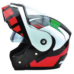 Nouveau casque de moto de Casco basculant avec visière double